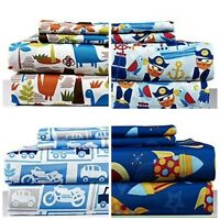 2 PACK! TWIN 3 Piece Soft Kids Bed Sheet Set! Mix and Match Bed Sheets -Two Sets