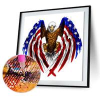 5D DIY Eagle Diamond Painting Needlework Cross Stitch Embroidery Home Decor S1
