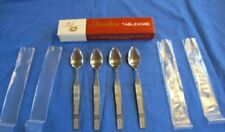 New listing 4 Stainless Steel Ice Tea Spoons Rogers & InSil Co. w/Ob New/Old Stock Lot O