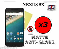 3x HQ MATTE ANTI GLARE SCREEN PROTECTOR COVER FILM GUARD FOR GOOGLE LG NEXUS 5X