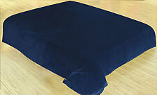 Soft plush Flannel Fleece Throw Full&Queen Size Blanket Blue Brand New