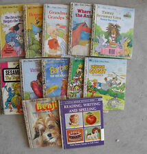 Lot of 12 Vintage 1970s-90s Little Golden Books Childrens Books