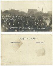 Livorno - Ritorno da Roma delle Gloriose Bandiere 1920 - Molto animata Militari