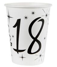 18. Geburtstag Pappbecher / Partybecher / Schwarz & Weiß
