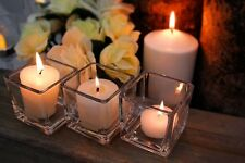 "6 pcs Square Glass Vase Cube 2 Inch - 2"" x 2"" x 2"" Centerpiece -Candle Holder"