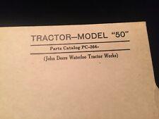 """John Deere Tractors - Models """"50"""" Parts Catalog Pc-264"""
