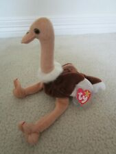 New ~ Ty 1997 Stretch the Ostrich Beanie Babie ~ Tag Protected