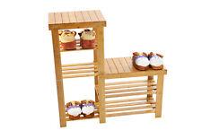 4 niveles emparrillado Zapato Bota Rack Estante De pie Organizador de unidad de almacenamiento de madera de bambú NUEVO