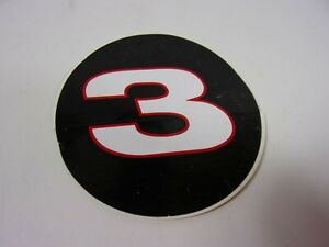 "NEW 1990'S NASCAR DALE EARNHARDT SR BLACK #3 LOGO 3"" ROUND STICKER DECAL"