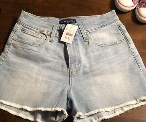 Jcrew High Waist Denim shorts Broken In Bleach Wash $80.50 sz 25 Nwt Cut Off Boy