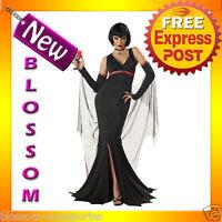 C311 Ladies Immortal Seductress Vampire Scary Halloween Fancy Dress Up Costume