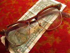 Vintage 1940s Eyeglasses Shuron mens Hornrim Eyeglasses Glasses 10k GF FOR PARTS