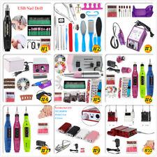 Professional Manicure Pedicure Tool Electric Drill File Pen Nail Art Machine Set
