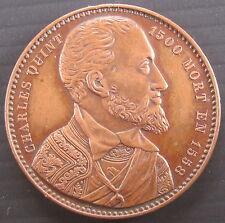Médaille CHARLES QUINT 1500 MORT EN 1558 - Graveur: J. - 34 mm 16 g