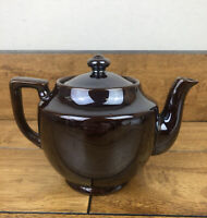Vintage Brown Lusterware Tea Pot Dark Brown Made in Japan