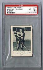 1952-53 Laval Dairy Hockey Card Sherbrooke #56 Martial Pruneau Graded PSA 4.5