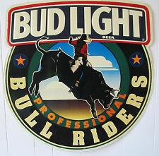 1995 Bud Light Professional Bull Riders Rodeo Tin Metal Molded Sign Advertising