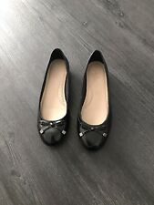 M&S Footglove Size 5.5 Black Ballerina Flat Shoes