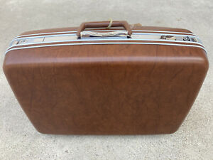 Vintage Brown Samsonite Silhouette Suitcase Hard Case Luggage VIP Owned