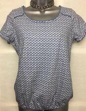 NEXT 10 vgc pale blue floral lace trim short sleeve cotton T-shirt tunic top