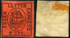 1860 Essex carta Express 2cts George Hussey's Thomas Imitación Madera