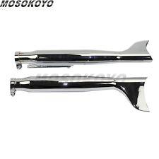 1 Pair Chrome Motorcycle Galvanized Iron Exhaust Muffler Universal For Harley