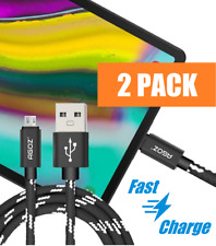 2 Pack 4ft, 6ft,10ft Micro USB Cable Fast Charger Data Sync Cord for Tablets