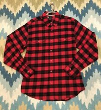 Men's Nike SB Woodman Flannel Shirt Red Black Check Size Medium - F/W 2010