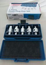 Draper Car Axle Gearbox Oil Sump Drain Key Plug Set Kit 5 Pc 56627 FASTP&P