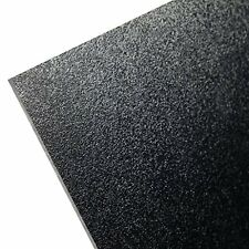 "HDPE (High Density Polyethylene) Plastic Sheet 1/4"" x 24"" x 48"" Black Textured"