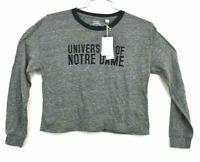 Notre Dame Fighting Irish Collegiate Outfitters Women's Long Sleeve Crop Shirt