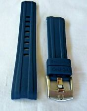 20mm RUBBER STRAP NAVY BLUE & PIN BUCKLE for  OMEGA SEAMASTER DIVER 300