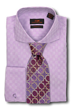 Dress Shirt Only by Steven Land Trim & Classic Fit Round Cuff-Purple-TA633-PU