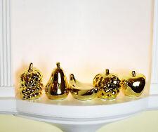 Italian 5 Pieces Golden Fruits Banana Apple PEAR Figurine Home Decor Ornament