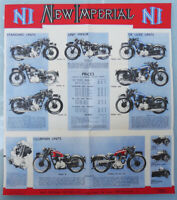 1938 NEW IMPERIAL MOTORCYCLE BROCHURE BOOK POSTER TRIUMPH BSA MATCHLESS VINCENT
