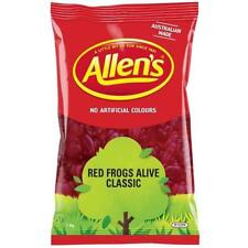 Allens Red Frogs Alive 1.3kg bulk lollies FREE POSTAGE