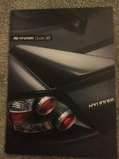Hyundai Coupe SIII 2007-08 UK Market Sales Brochure 1.6 2.0 2.7 V6