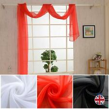 Plain Voile Curtains Scarf Pelmet Valance Romantic Venue Panel Slot Up Scarves