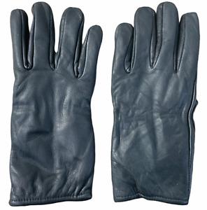 Ex Police Black Cut Resistant Leather Gloves Lined With Kevlar Blend GLV21