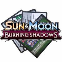 Pokemon Codes Sun & Moon BURNING SHADOWS Online TCG Codes Booster Online Codes