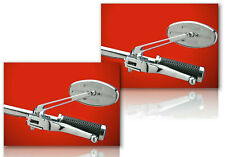 "Arlen Ness Stealth 1 Chrome Harley Mirrors 4-3/4"" Stem (PAIR-R/L)  DS-302166"