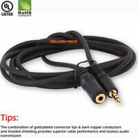 Short/Long 6FT 25FT 3.5mm Auxiliary Aux Male to Female Stereo Audio Cable Cord