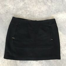 Leifsdottir Anthropologie Black Wool Blend Pencil Straight Skirt (GI) Size 12