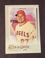 2020 Topps Allen & Ginter Mike Trout #85 Anaheim Angels