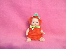 "MINIATURE STRAWBERRY PLUSH DOLL COSTUME FOR BABIES SIZED 5""  OOAK REBORN ART SET"