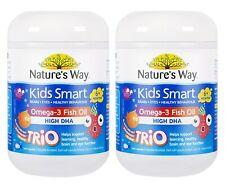 Nature's Way-Kids Smart Omega 3 Fish Oil Trio 180 Capsules 2x TWIN PACK
