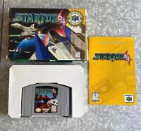 N64 Star Fox Nintendo 64 Complete w/ Manual TESTED Fast Ship! Starfox In Box