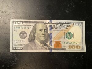 2009 $100 One Hundred Dollar Bill *Star Note* Low Serial Number.