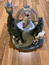 Rare Vintage Disney Cinderella And Prince Charming Dancing Musical Snow Globe