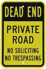 "SmartSign 3M Engineer Grade Reflective Sign, Legend ""Dead End Private Road No So"